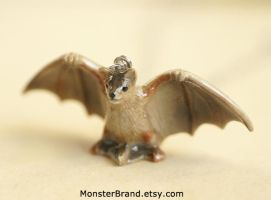 Bat Necklace by MonsterBrandCrafts