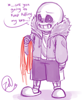 Undertale - Sans: how much longer... by zeldaprincessgirl100