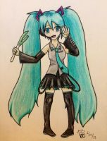 Hatsune Miku and...Leeks? by Otaku-Kaku-Neko