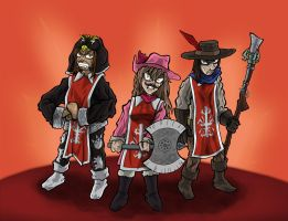 Angry's Three Musketeers by ReallyAngry