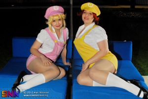 plumer peach and daisy by neoangelwink