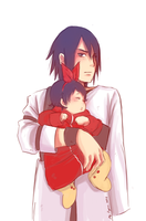 sasuke and sarada part 1 by Fey-Rayen