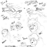 InuYasha Sketches TWO by TheOppressor