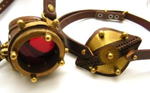 Steampunk Monogoggle 4-1 by AmbassadorMann