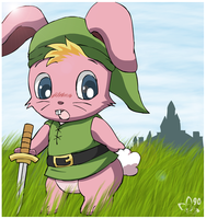 Link is a bunny? by pichu90