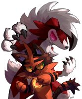 Lycanroc and Torracat