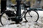Snow-bicycle by Ombraluminosa