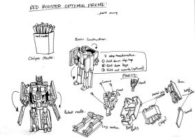 Red Rooster Optimus Prime by Boltax