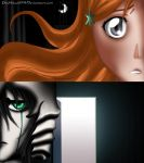 Orihime -x- Ulquiorra by pitchblack1994