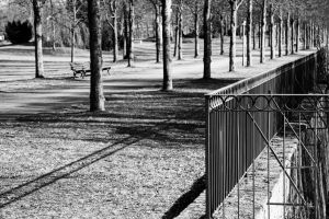 Alley and fence by UdoChristmann