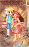 Finn and Flame Princess by FankaKM