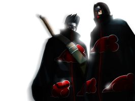 Kisame and Itachi by daxtee