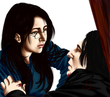 Snape's Death (genderbent harry) by Tsuki-Yue