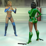 Cosplay Queen Series Orchid vs Electra by freshfight