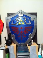 Hylian shield WIP -finished for now- by jobiwan