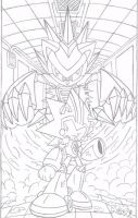 Shard vs Silver Sonic III by FritzyBeat