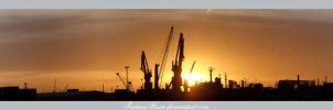 Port Sunset Panorama by IndianRain