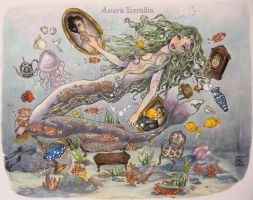 Tea with the Mermaid by Astera-T