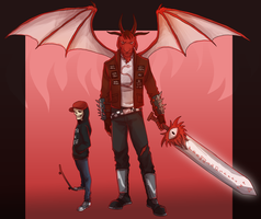 Manual Samuel: Death and Satan by NEOmi-triX