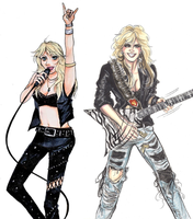 Doro Pesch and Lita Ford collaboration by cozywelton