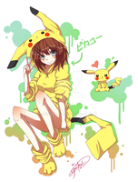 Pikachu Girl by Graviilean