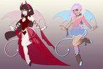 Succubus designs for sale! ONE LEFT! by StarkindlerStudio