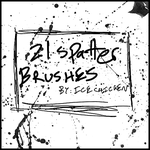 21 Spatter Brushes by Icechicken
