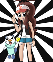 Touko and Oshawott by sketchinnegro
