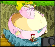 Diddy Kong And Fat Dixie Kong. by Virus-20