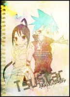 Tsubaki and Black Star by MaskHerAid
