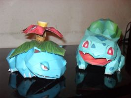 Grass pokemons papercraft by MichelCFK