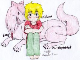 wolf lucy and edward by kassieskatergirl98