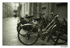 Rainy day and bikes by frescendine