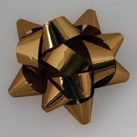 gold Christmas bow by LucieG-Stock