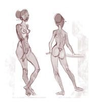 Figure drawing by Nieris