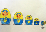 Russian Nesting Dolls by Blender-Madness