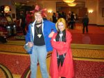 Anime Crossroads 2011: Edward Elric and Yami Yugi by snowcloud8
