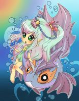 Underwater Rainbow by Kimi-Juu