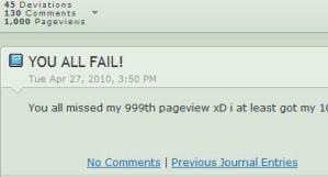 1000 pageviews by fatwolf012