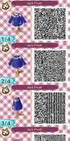 Animal Crossing New Leaf: Jack Frost QR Code by TofaTheDragonRider