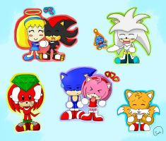 Sonic Chibis by ChristianHedgie