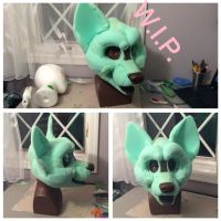 Shiba Inu Foam Base commission by GoldenCat22