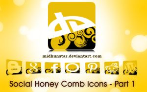 Social Honey Comb Icons -[Part1] by midhunstar