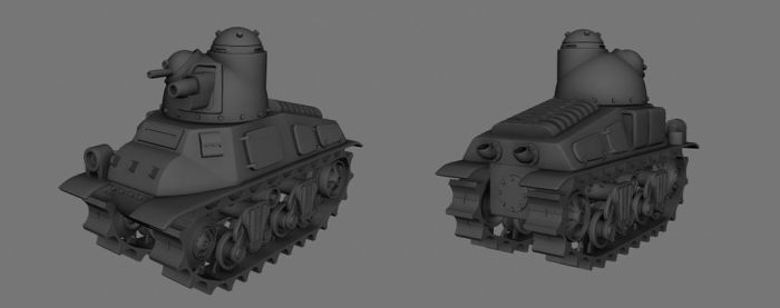 Medium Tank model B by Henskelion