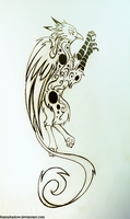 Griffon tattoo design by FoxInShadow