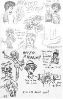 Monty Python doodles by that1weirdkid