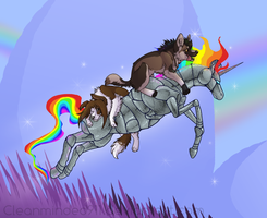 :AT: Akki + Esk + Unicorn by cleanminded911