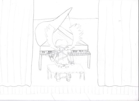 Icarus Piano Sketch by x0inuyashaxkagomex0