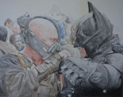 Batman Bane with background - wip 2 by TBabing