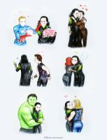 Loki steals the Avengers hearts by Develv